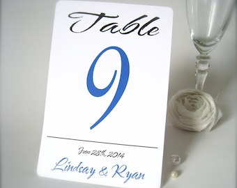 """Custom table number 4"""" x 6 , personalized wedding table number card, wedding table number card, wedding reception decor"""