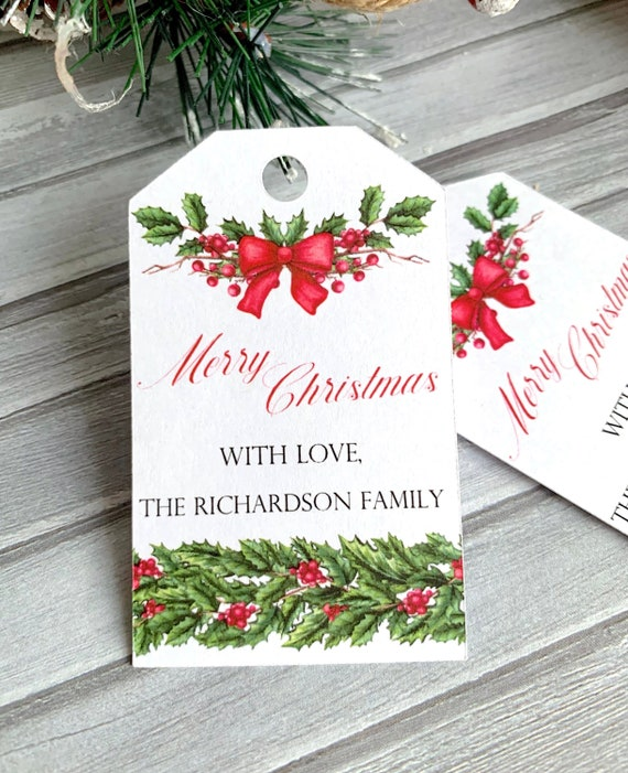 Personalized Christmas Gifts.Personalized Christmas Gift Tags Gift Wrapping Merry Christmas Happy Holidays Christmas Labels Personalized Set Of 12