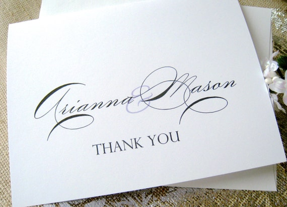 thank you cards wedding thank you cards personalized thank etsy