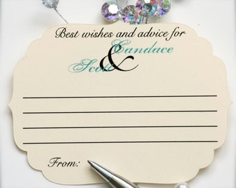 Best wishes cards, advice for the bride and groom cards, wedding advice cards, wedding guest book, wedding comment cards - 30 cards(ac3)
