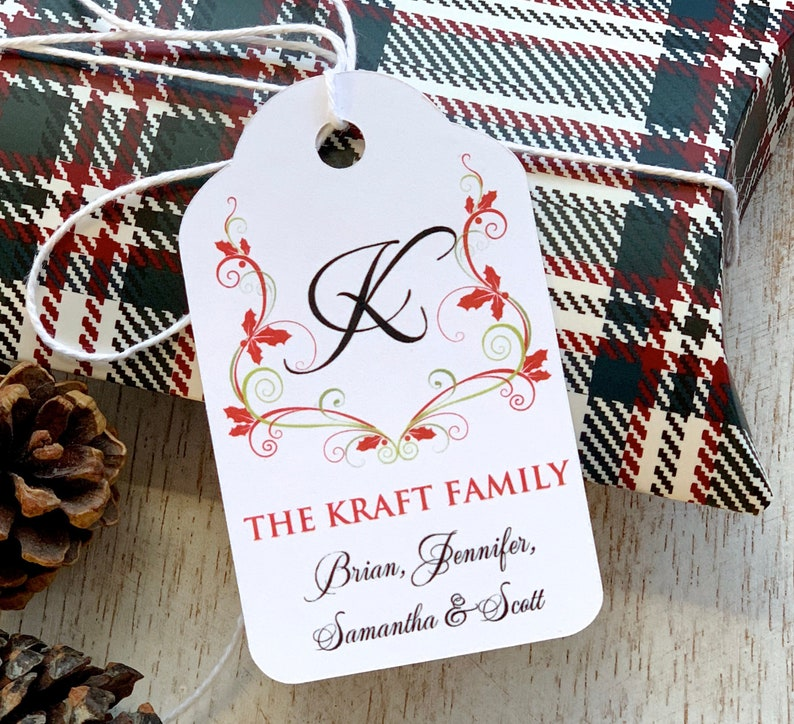 Christmas In July Gift Tags.Christmas Gifts Tags Present Labels Gift Wrapping Personalized Holiday Tags Gift Decorating Monogram Tag Christmas In July Set Of 12