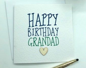 Grandad Birthday Card For Happy Grandpa Grandfather Gramps Grandpop