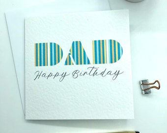 Dad Birthday Card For Happy Father
