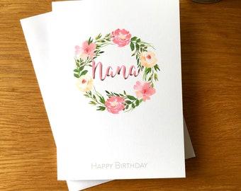 Grandmother Birthday Card Happy Grandma Nana For
