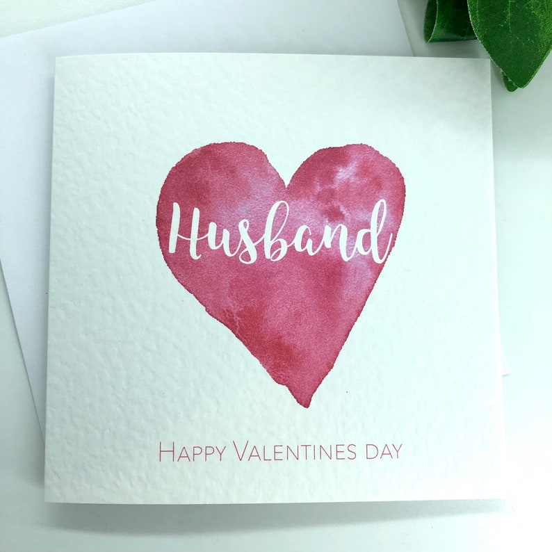Personalised Valentines Day Card Husband Valentines Etsy