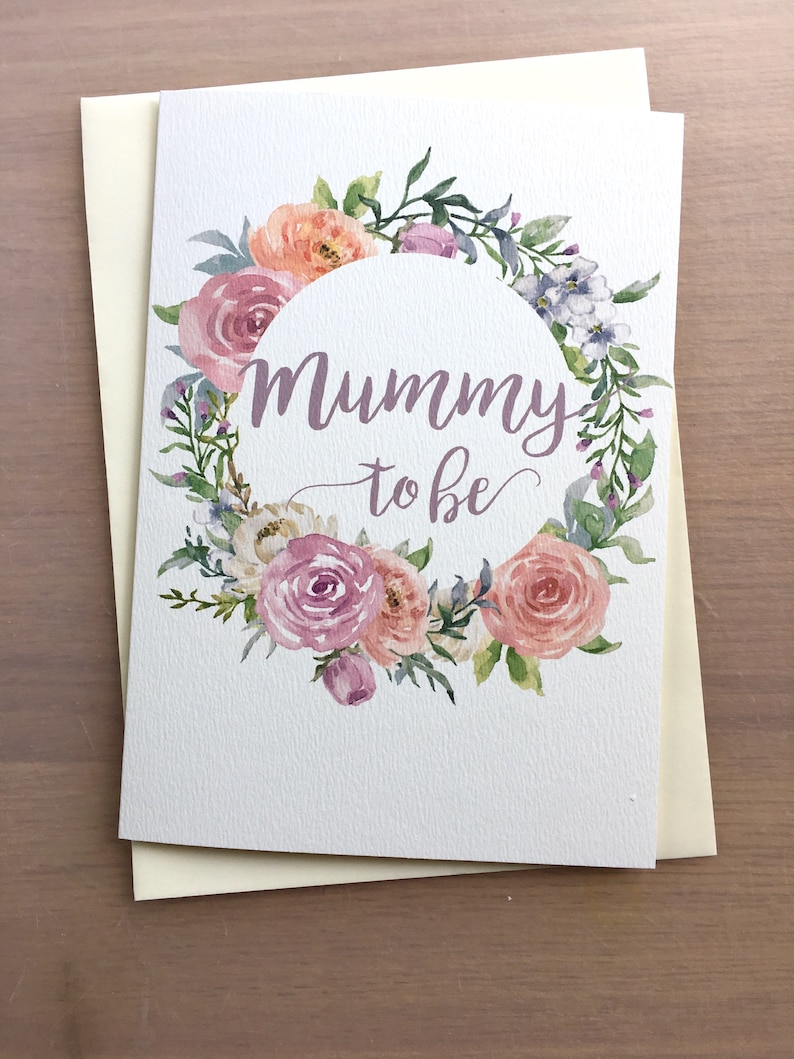 Mummy To Be Card Large Baby Shower Card Maternity Card Mum Etsy