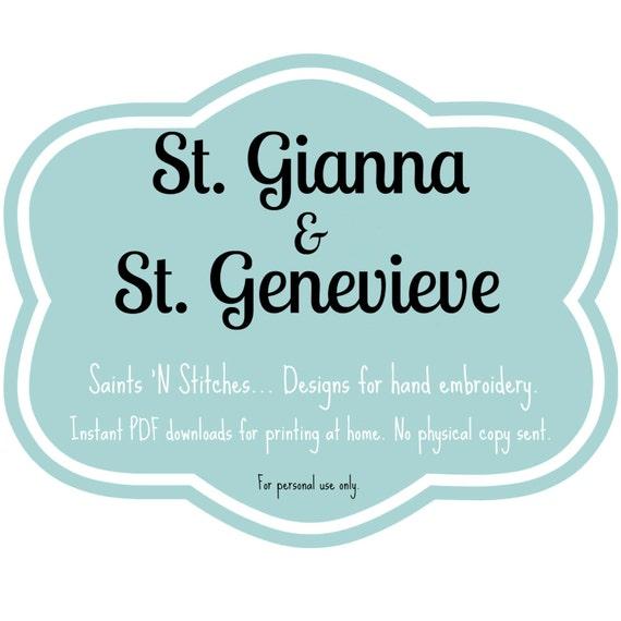St Gianna St Genevieve Pdf Instant Download Pattern Etsy