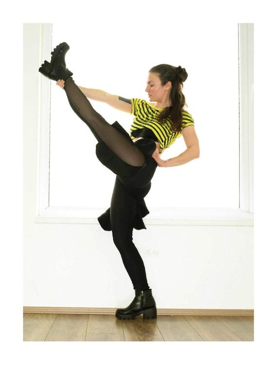 Leggings pantalones Festival mujeres medias polainas negro  4394d6232087