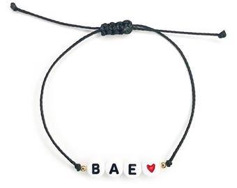 CUSTOM // White Letter Bead Bracelet - Custom Letter Bead Bracelet, Word Bracelet, Name Bracelet, Initial Bracelet, Letter Beads
