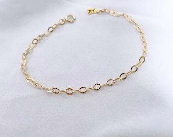 STARBURST // Starburst Chain Bracelet or Necklace (14K Gold Filled) - Gold Chain Bracelet, Simple Chain Bracelet, Simple Gold Chain Necklace
