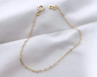 CLASSIC // Classic Chain Bracelet or Necklace (14K Gold Filled) - Gold Chain Bracelet, Simple Chain Bracelet, Simple Gold Chain Necklace
