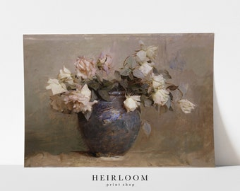 Flower Painting   Floral Painting   Prints Wall Art   MAILED ART PRINT   Vintage Art   Dainty