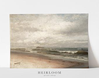 Seascape Painting | Beach Wall Decor | Antique Art | FINE ART PRINTS | Tide