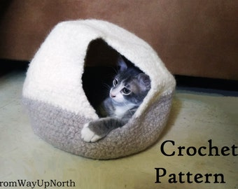 Crochet Cat Sack Hideaway ⋆ Dream a Little Bigger | 270x340