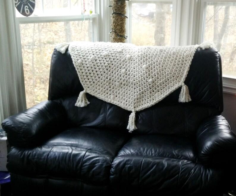 CROCHET PATTERN The Lunar Chunky Blanket-Rug