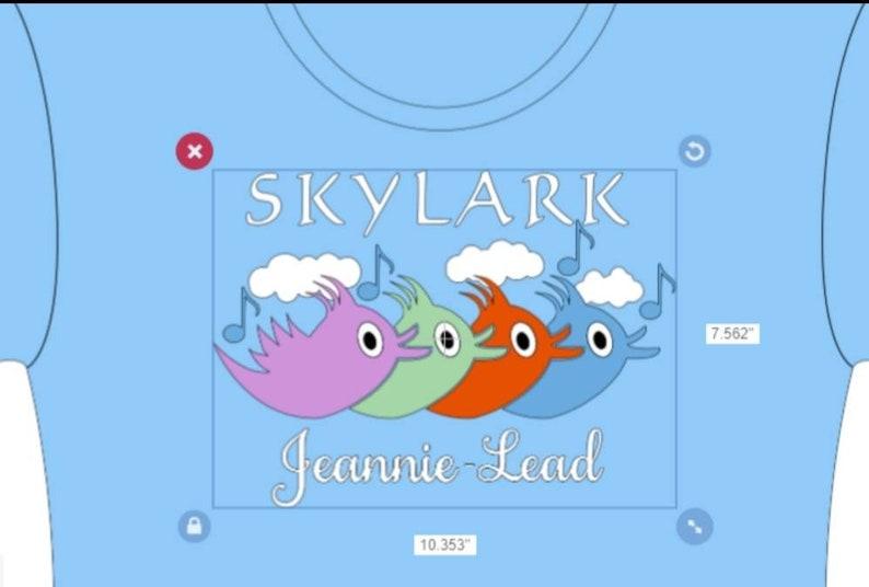 Skylark Cutout-Various singing parts