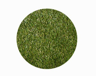 8ft Circle Synthetic Grass Rug