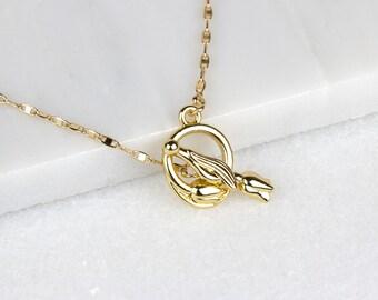 Links Front Choker/ Gold Rose Choker/ Rose Choker Necklace/ Gold Choker Necklace/ Gold Front Choker