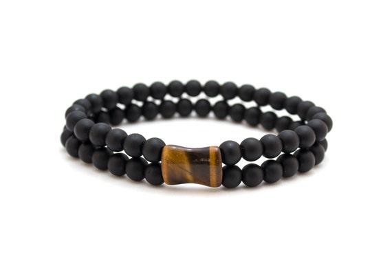 Onyx  Wrap Bracelet  Matt Onyx Beaded Bracelet