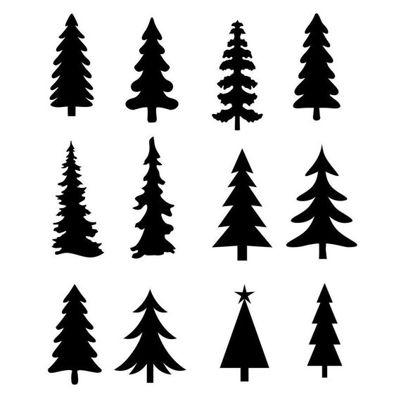 Christmas Tree Evergreen Clipart Silhouettes Eps Dxf Pdf Png Etsy Choose from over a million free vectors, clipart graphics, vector art images, design. christmas tree evergreen clipart silhouettes eps dxf pdf png svg files plasma cnc