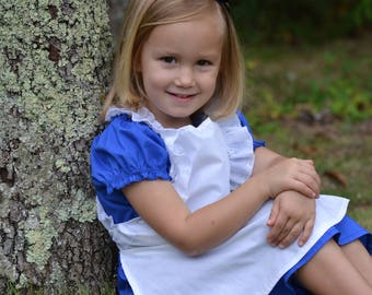 Alice in Wonderland Dress with adorable separate white apron