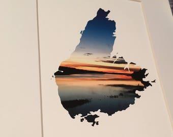 Mabou Sunset, Cape Breton Island, giclee art print