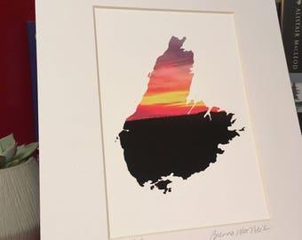 Deepdale sunset, Cape Breton Island, giclee art print