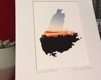 Inverness Broad Cove Banks Sunset, Cape Breton Island giclee art print