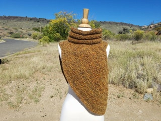 Brown Cowl, Cowl, Crochet Cowl, Knitted Cowl, Beautiful Cowl, Elegant Cowl, Hand-Made Cowl
