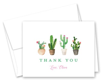 Thank You Card Cactus Thank You Card Gracias Desert Flora
