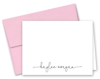 Personalised Folded Note Card  /'Laurel/' Personalized Monogram Stationery Set  Thank You Card  Classic Card  Personal Correspondence Card