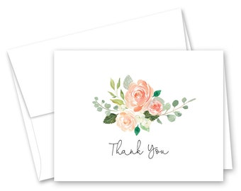 greenery thank you etsy Pattern for Scrapbooking Envelope Mini greenery floral thank you cards set of 10 with envelopes