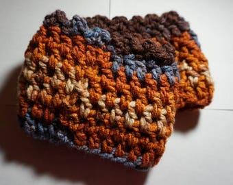 Crochet Orange Blue Purple Boot Cuffs - Women