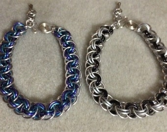 Viper Basket Chainmaille Bracelet in Various Colours