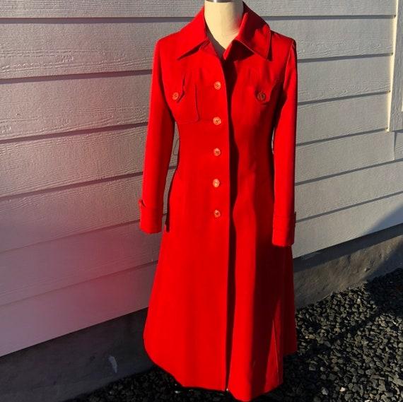 Orange Betty Rose trench coat