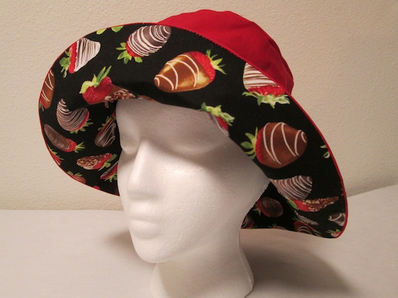 591e4f9ef44 Bucket Hat 23 Large Chocolate covered Strawberries