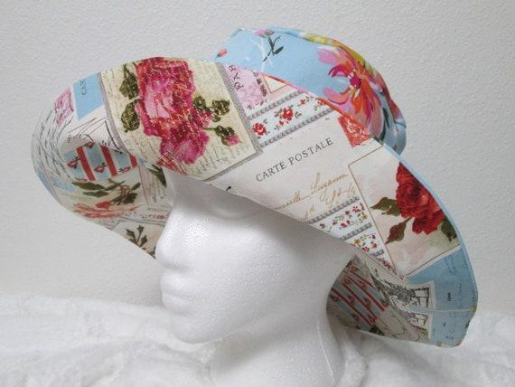 Bucket hat 3XL 26 inch hat XXXL Sun hat French hat Floral  25362fa5c27