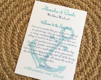 nautical welcome letter destination wedding welcome letter welcome letter beach wedding welcome letter anchor wedding wedding welcome