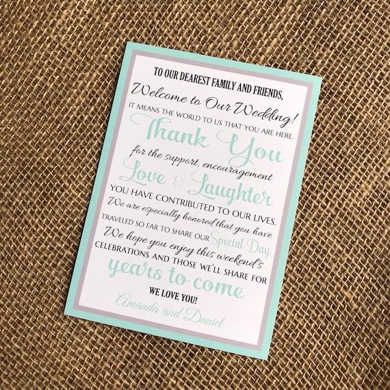 Wedding Welcome Letter Destination Wedding Welcome Wedding | Etsy