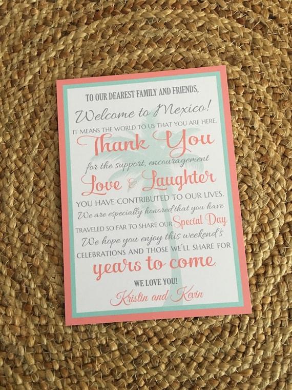 Destination Wedding Welcome Letter Wedding Welcome Letter Etsy