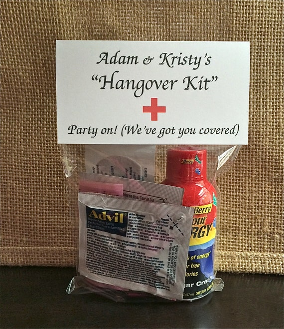 Survival Kit Wedding Hangover Kit Bag and Topper DW100 Recovery Kit Hangover Kit BAG /& TOPPER Wedding Survival Kit Bag Toppers