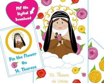 Pin The Flower on St. Therese Game PDF