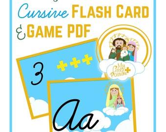 My Little Patron Cursive Flash Card and Game PDF