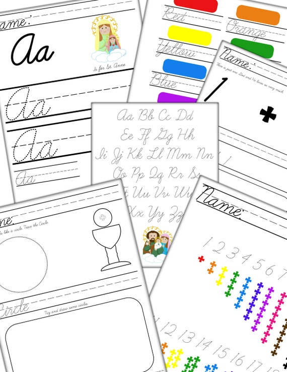 Catholic Preschool Printables Preschool Printables