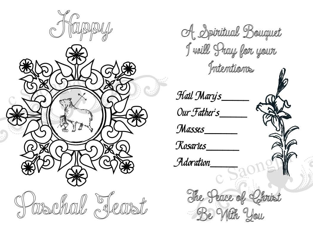 Spiritual Bouquet Cards Printable PDF   Etsy
