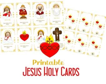 Printable Jesus Holy Cards PDF