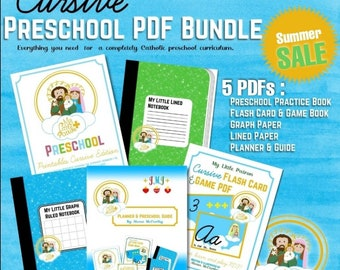 My Little Patron Cursive Preschool Bundle PDF