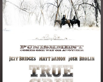 """TRUE GRIT (2010, Jeff Bridges) Poster 24""""x36"""" - Free Shipping in United States"""