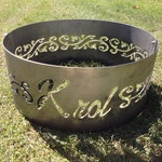 You Design Fire Ring or Custom Fire Ring, Customized  Design, Pit, Firepit, Outdoor, Fire Place, Gift for Camper, Campground, Anniversary