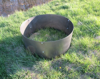 Solid Fire Ring Pit Heavy Duty Campground Personalized Custom Fire Pit